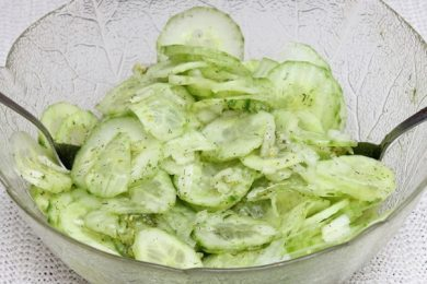 5 easy salad recipes German cucumber salad