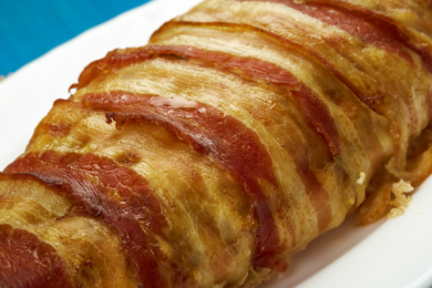 bacon wrapped chicken meatloaf