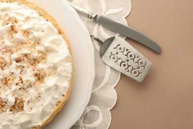 coconut cream cocoa pie